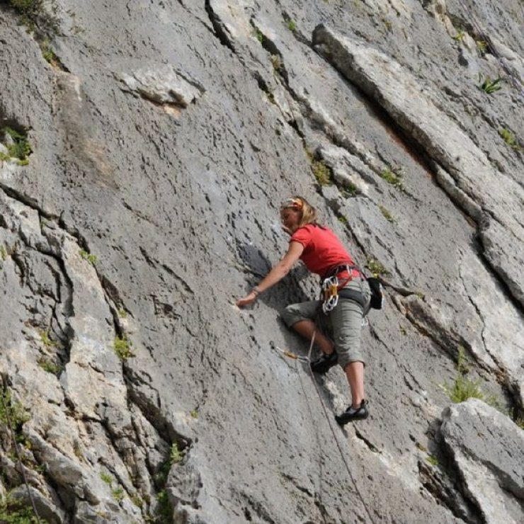 Escalade Gorges d'Agnielles - Escalade Gorges d'Agnielles (Copyright : Bureau des guides des 2 vallées)