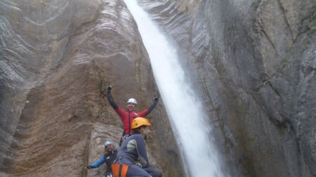 Canyon de Tines - Final (Copyright : Hautes-Alpes Canyoning)