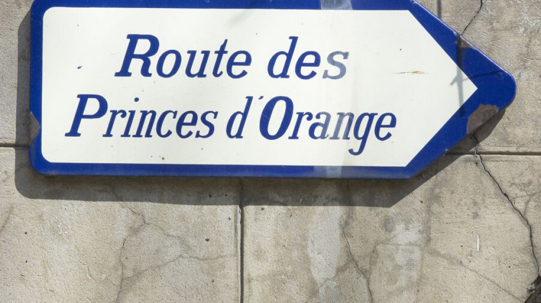 La Route des Princes d'Orange - Panneau à Orpierre (Copyright : Eric Burlet)