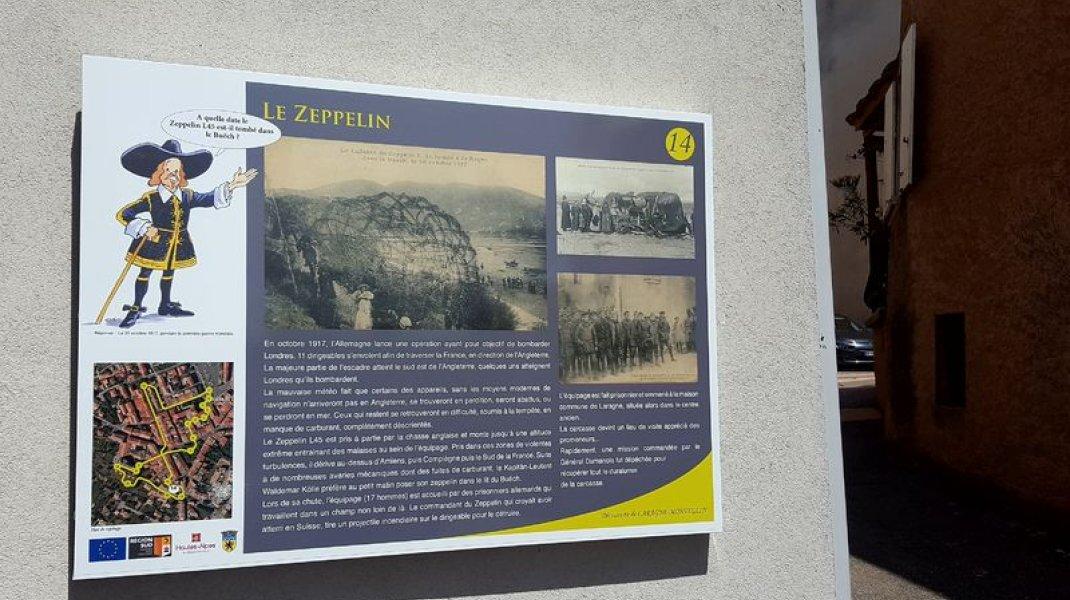 Sentier de découverte du patrimoine de Laragne - Le Zeppelin (Copyright : Office de Tourisme Sisteron Buëch)
