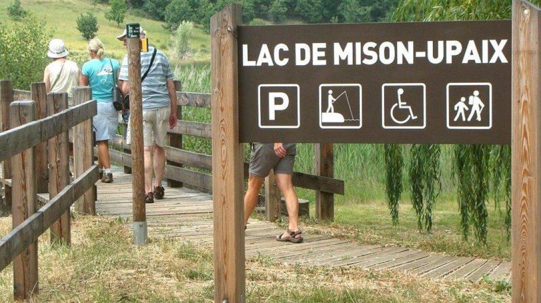 Itinéraire de rando Le Tour du Lac de Mison - Parcours aménagé (Copyright : Office de Tourisme Sisteron Buëch)