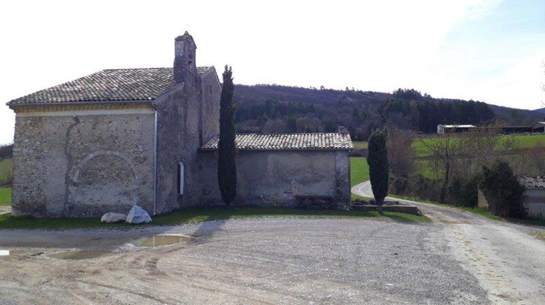 Itinéraire de rando Tour de Saint Domnin - Chapelle de Saint Domnin (Copyright : Communauté de Communes Sisteronais Buëch)