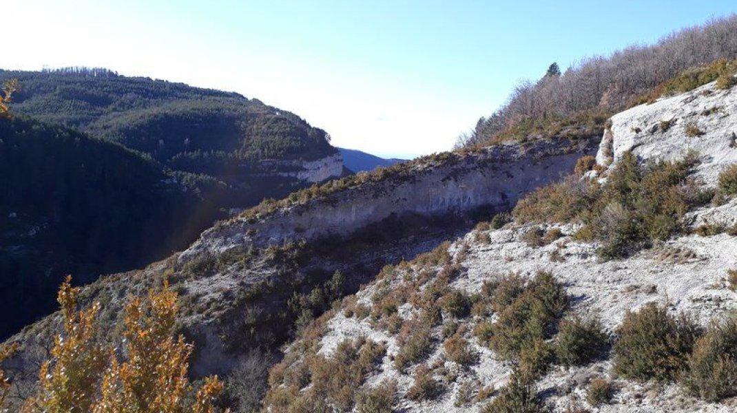 Itinéraire de rando Sentier de la Pierre Ecrite - Belle vue en chemin (Copyright : Communauté de Communes Sisteronais Buëch)