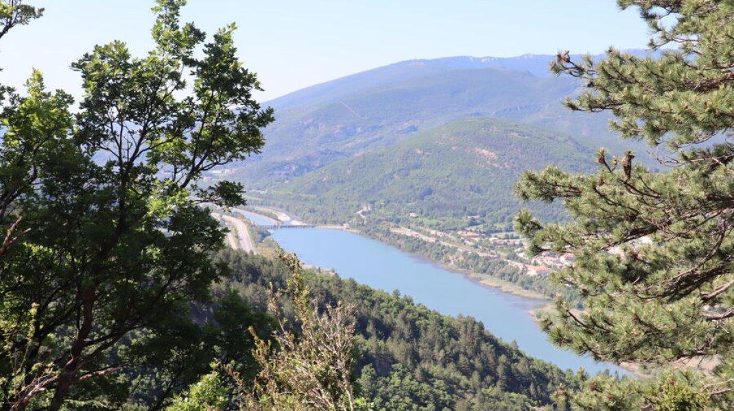 Randonnée le Trou de l'Argent à Sisteron - Panorama sur la vallée de la Durance (Copyright : Office de Tourisme Sisteron Buëch)