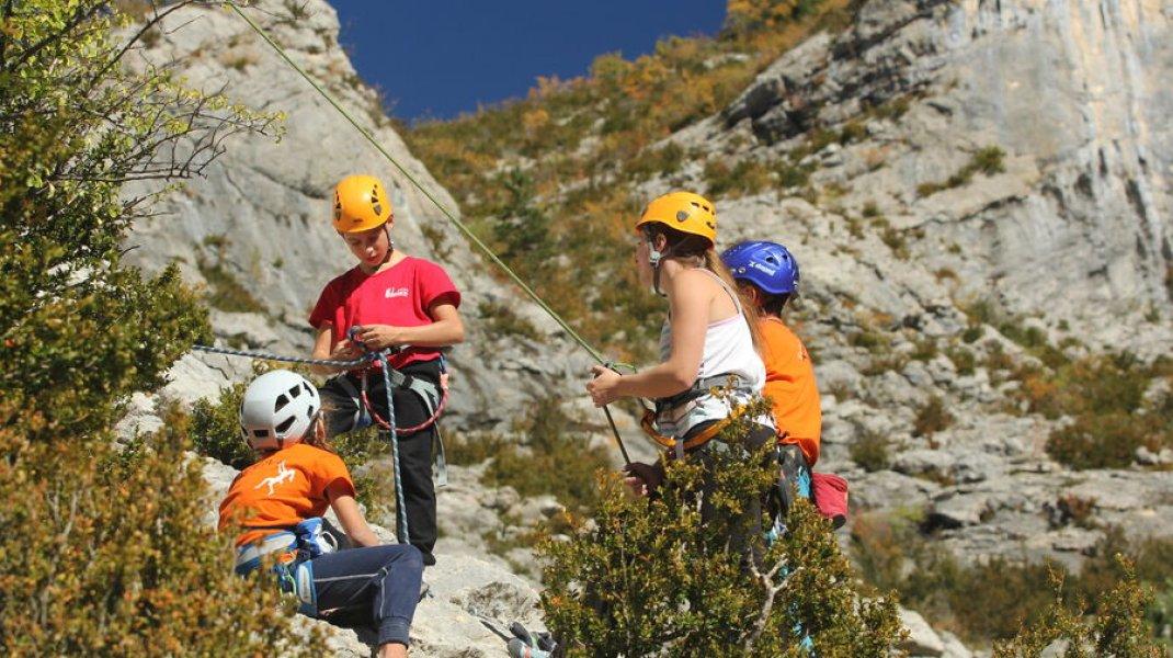 Site d'escalade d'Orpierre - Escalade au Belleric (Copyright : Into the Cliff)