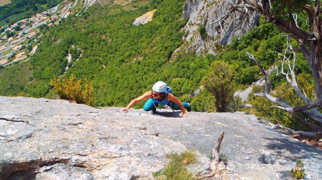 Site d'escalade d'Orpierre - Grandes voies à Orpierre (Copyright : Grimper à Orpierre)