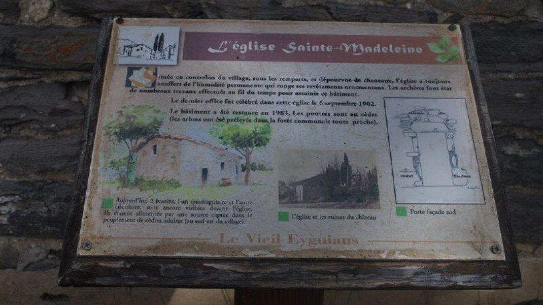 EldoradoRando Le Vieil Eyguians - Panneau d'information (Copyright : Communauté de Communes Sisteron Buëch)