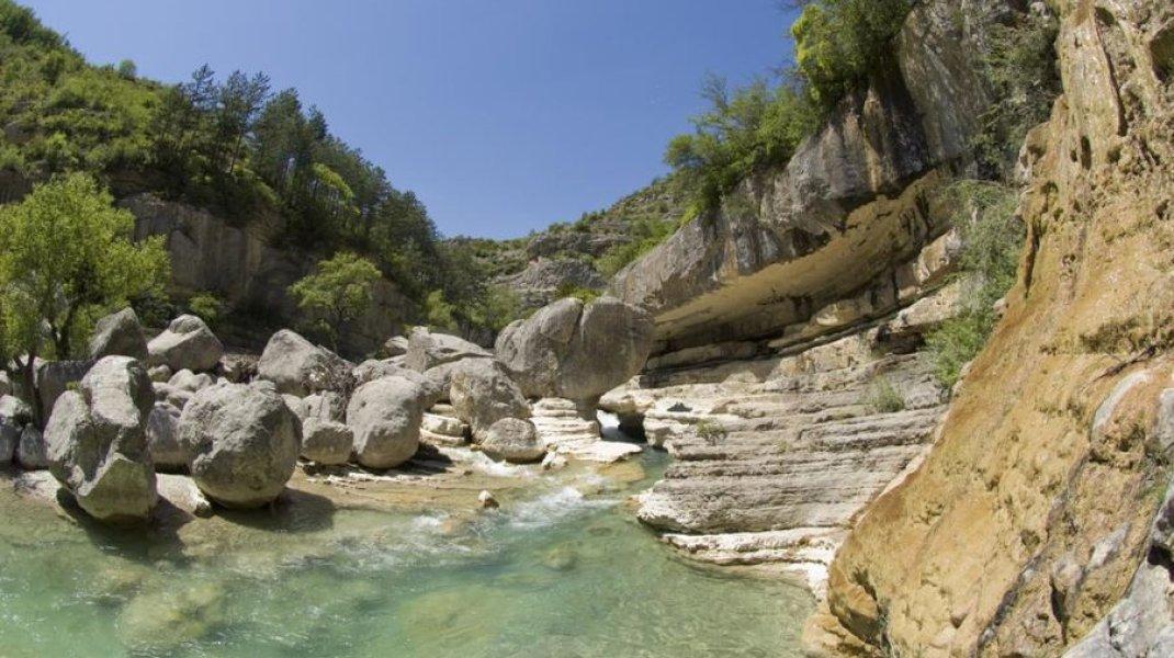 Paysage des Gorges de la Méouge (Copyright : Office de Tourisme Sisteron Buëch)