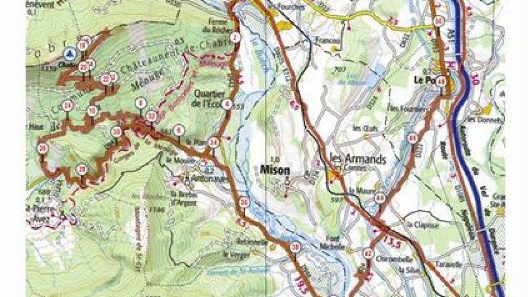 Carte et profil de l'itinéraire - étape 1