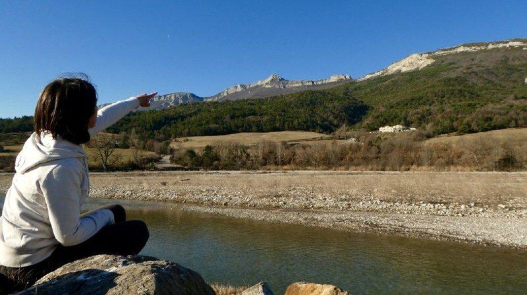 Les voies de nos ancêtres - Vue sur Baumont (Copyright : Communauté de Communes Sisteronais Buëch)