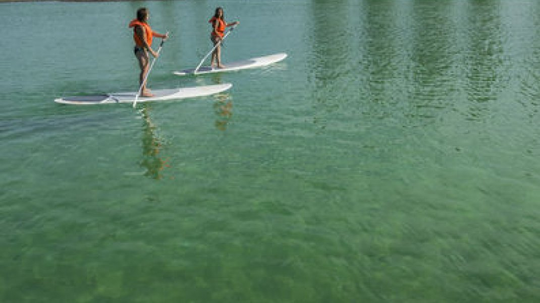 Base de loisirs de la Germanette - Stand up paddle (Copyright : Base de loisirs de la Germanette à Serres)