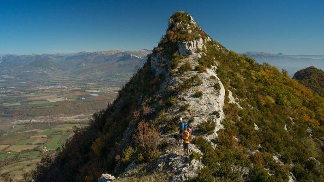 Itinéraire de rando Le Roc de l'Aigle - Rocher de Pierre Impie (Copyright : Communauté de Communes Sisteron Buëch)