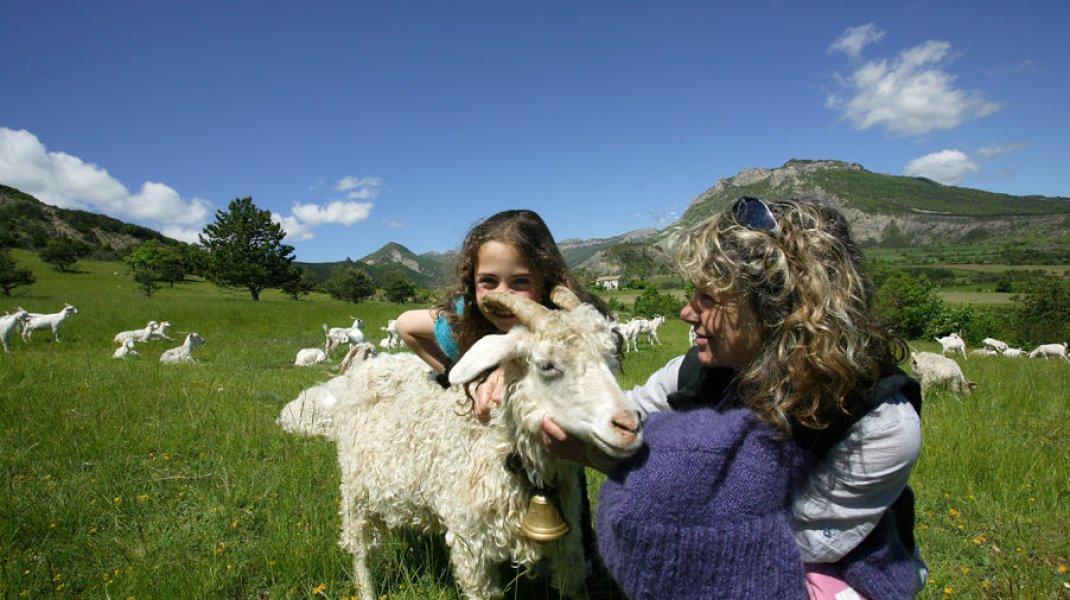 visite de la ferme (Copyright : C. Lanteaume)