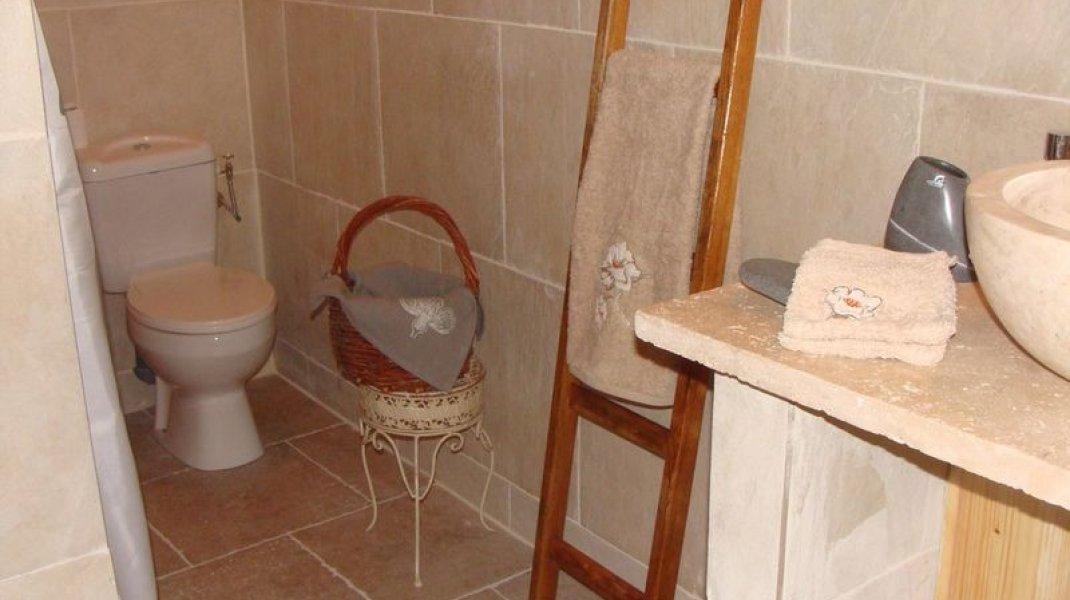 Les gîtes d'Eliane - Un air de campagne - Salle d'eau (Copyright : Office de Tourisme Sisteron Buëch)