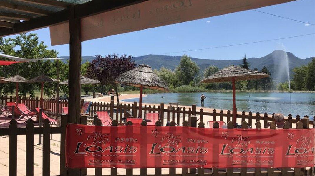 Brasserie l'Oasis - Vue Plan d'eau (Copyright : Office de tourisme Sisteron Buech)