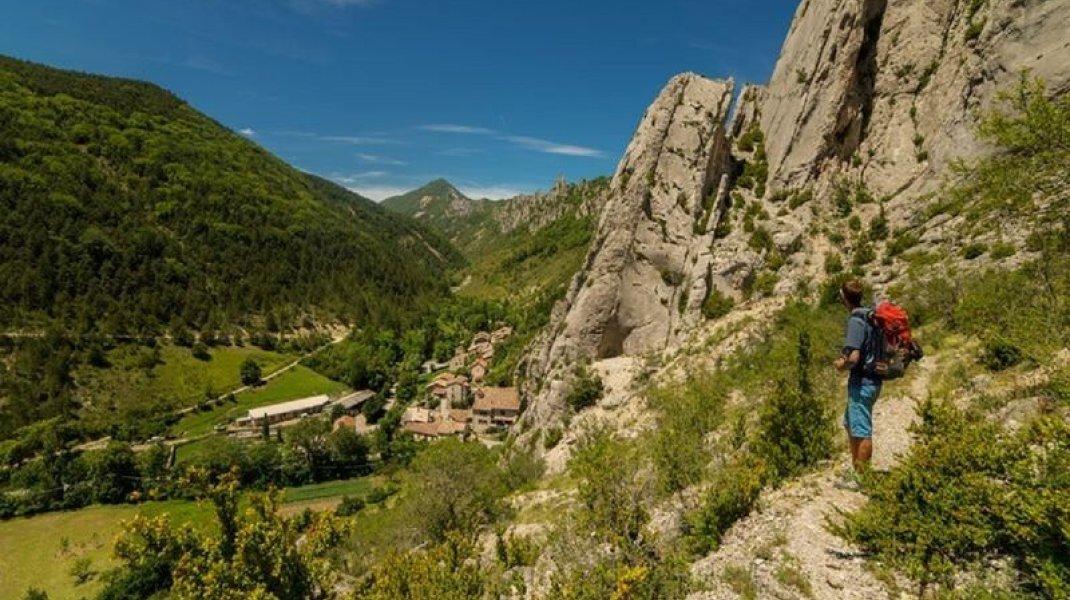 Les falaises de Sigottier (Copyright : Communauté de communes du Sisteronais Buëch)