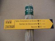 Sentier botanique du Molard à Sisteron - Panneau de randonnée (Copyright : Office de Tourisme Sisteron Buëch)