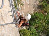 Via ferrata de la grande fistoire - Echelle (Copyright : OIT Motte Turriers)