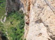 Via ferrata de la grande fistoire - Grande muraille (Copyright : OIT Motte Turriers)