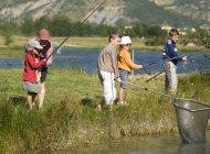Lac de pêche de la Germanette - Pêche en famille à la Germanette (Copyright : Eric Burlet)