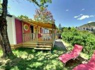 Camping des Princes d'Orange à Orpierre - Mobile home tout confort avec vue (Copyright : Camping des Princes d'Orange)