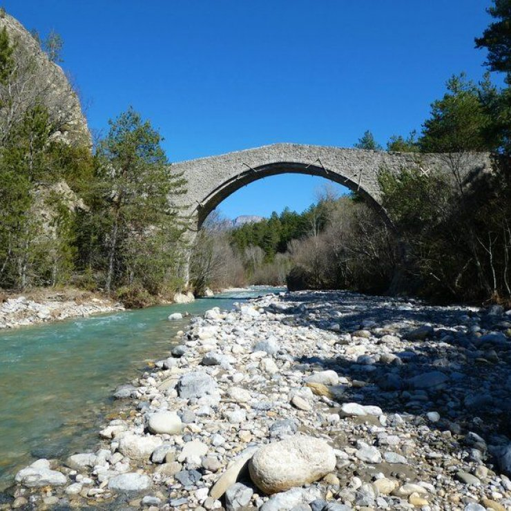 Itinéraire de rando Saint Symphorien - Le Pont de la Reine Jeanne (Copyright : Communauté de Communes Sisteronais Buëch)