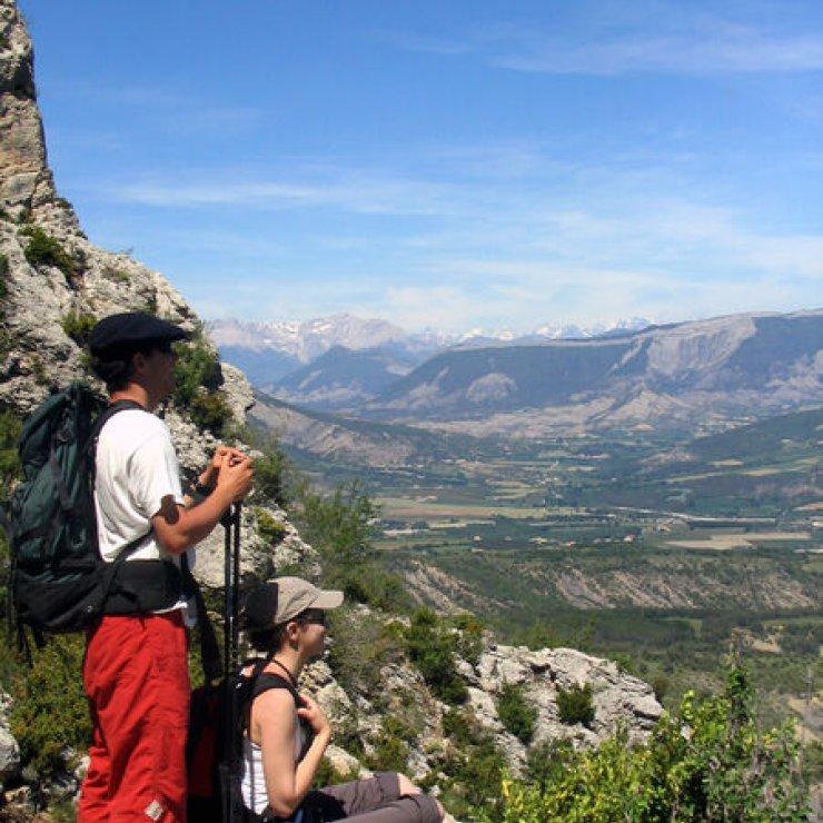Itinéraire de rando - Rocher de Beaumont (Copyright : Officede Tourisme  Sisteron Buëch)