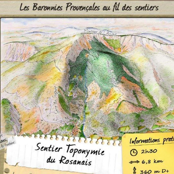 Sentier thématique - Toponymie du Rosanais (Copyright : Pnr des Baronnies provençales)