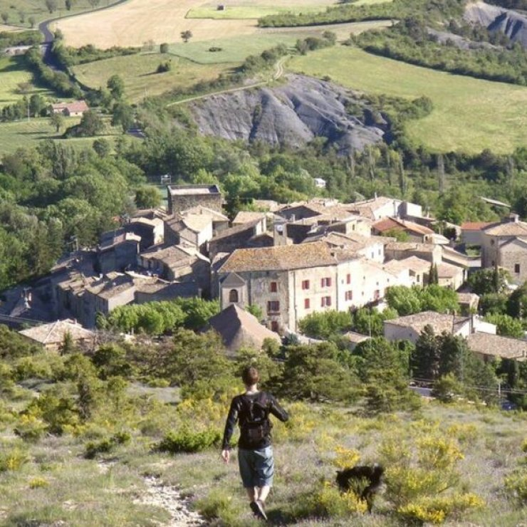 Itinéraire de rando Le Chemin du Facteur - Sur les hauteurs de Rosans (Copyright : Office de Tourisme Sisteron Buëch)