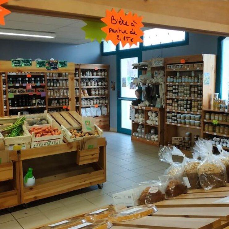 Les Copains du Marché à Mison - Magasin de vente de produits locaux (Copyright : Les Copains du Marché)