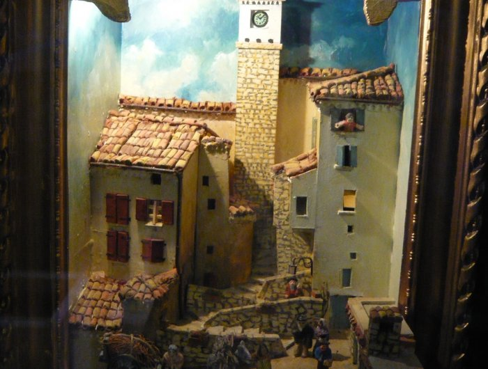 Représentation village de Serres crèche provençale